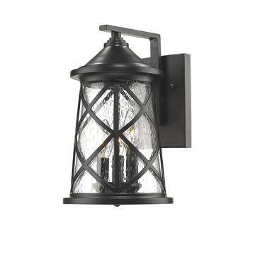 Millennium Lighting 13-in H Powder Coat Black Medium Base (E-26) Outdoor Wall Light   2502-PBK
