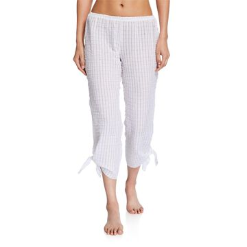 Paz Tie-Cuff Cropped Lounge Pants