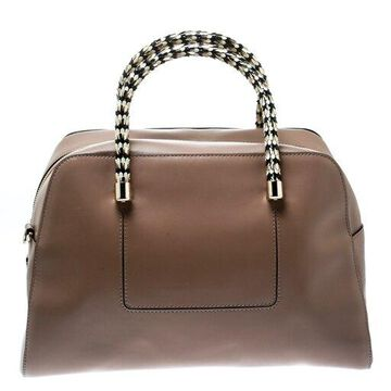 Bvlgari Nude Leather Serpenti Scaglie Bowler Bag