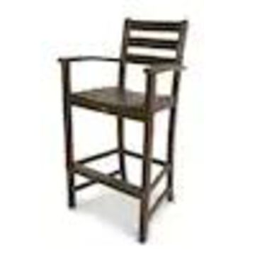 Trex Outdoor Furniture Monterey Bay Plastic Stationary Bar Stool Chair(s) with Slat Seat
