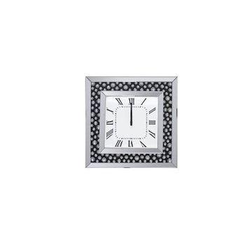 Acme Furniture Marku Wall Clock, Mirrored
