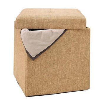 Simplify Square Folding Storage Ottoman