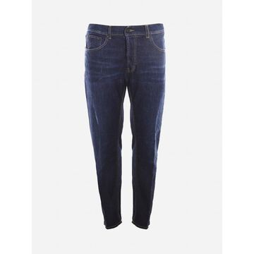 Dondup Stretch Cotton Jeans With Contrasting Stitching