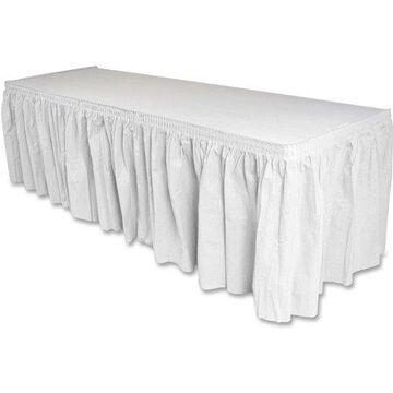 Genuine Joe Nonwoven Table Skirt, 14 ft Length, GJO11915