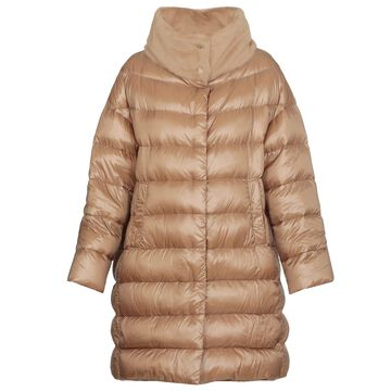 Herno Long Down Jacket With Fur