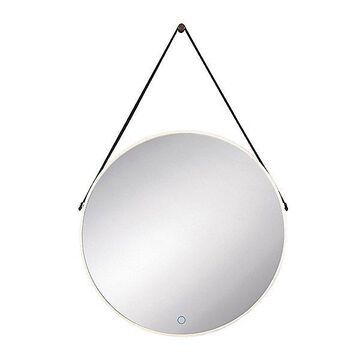 Eurofase Round Lighted LED Wall Mirror - Color: Silver - 35885-016