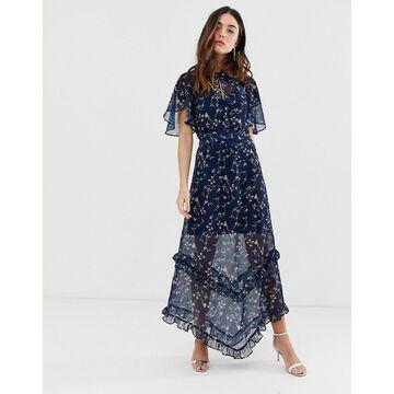Keepsake daybreak floral midaxi dress