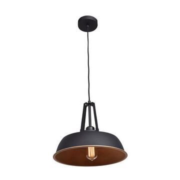 23777-MBL-MGL 14 in . Nostalgia 1 Light Matte Black Pendant Ceiling Light