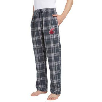 Concepts Sport Men's Washington State Cougars Grey/Black Hillstone Flannel Sleep Pants