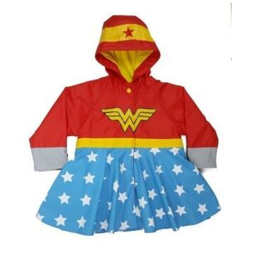 Western Chief Little and Big Girl's Wonder Woman Rain Coat