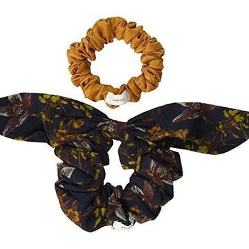 Chan Luu Vintage Floral Print Scrunchie Sets (Outter Space) Hair Accessories