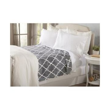 Home Fashions Designs Lattice Scroll Design Ultra Plush Printed Full / Queen Bed Blanket Bedding