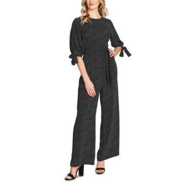 CeCe Printed Belted Jumpsuit