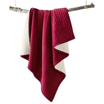 Martha Stewart Collection Velvet Channel Stitch Quilted Throw, Created For Macy's