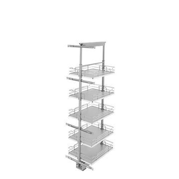 Rev-A-Shelf 16-in W x 58.25-in H 5-Tier Pull Out Metal Soft Close Baskets & Organizers