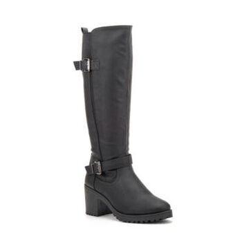 Olivia Miller Women's Ellie Block Heel Regular Calf Tall Boots Women's Shoes