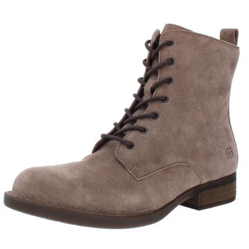 Born Womens Remy Suede Lace-Up Booties