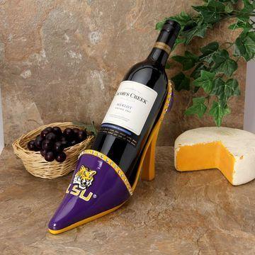 LSU Tigers High Heel Shoe Bottle Holder - Purple