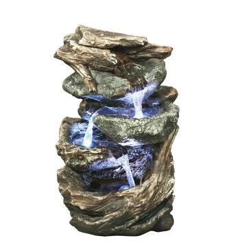 Design Toscano 10.5-in H Resin Rock Waterfall Fountain Outdoor Fountain   DW35126