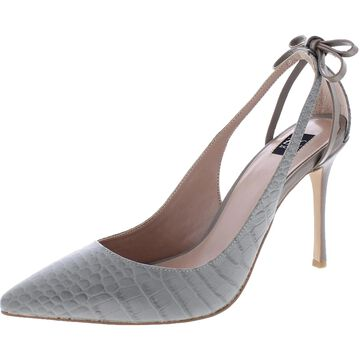 ZAC Zac Posen Womens Veronique Pointed Toe Heels Leather Embellished