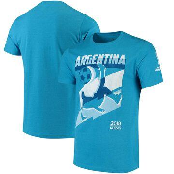 Argentina National Team Jagged Line T-Shirt Heathered Blue