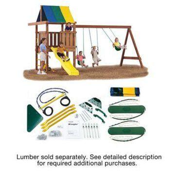 Gorilla Playsets Wrangler DIY Play Set Hardware Kit, Slide and Lumber not Included, 409835