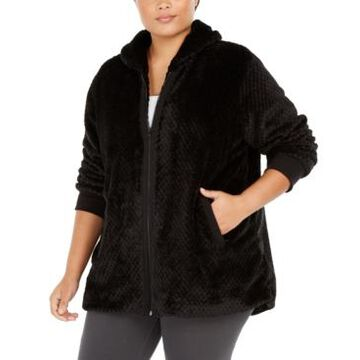 Ideology Plus Size Quilted Sherpa Jacket