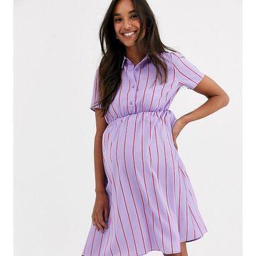 Mamalicious stripe shirt dress-Multi