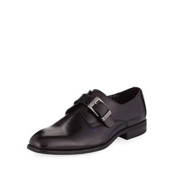 Men's Monk-Strap Smooth Dress Shoes