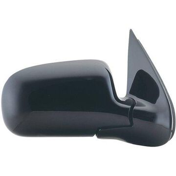 62071G - Fit System Passenger Side Mirror for 97-05 Chevy Venture, Olds Silhouette, Pontiac Transport, black, foldaway, Manual