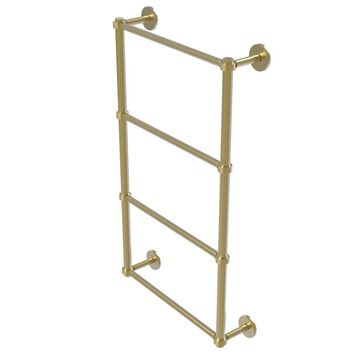 P1000-28G-24-SBR Prestige Skyline Collection 4 Tier 24 in. Ladder Towel Bar with Groovy Detail, Satin Brass