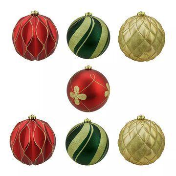 Northlight Shatterproof Ball Christmas Ornament 7-piece Set, Multicolor