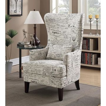 Picket House Furnishings Kegan Accent Chair in French Script