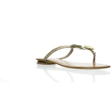 MIA Womens Jimena Gold Slides Size 9