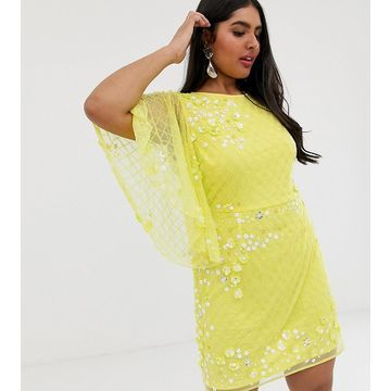ASOS DESIGN Curve heavily embellished mini shift dress