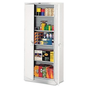 Tennsco - 1870LGY - 78 High Deluxe Cabinet, 36w x 18d x 78h, Light Gray