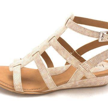 Born Womens Heidi Open Toe Casual Platform Sandals, Cream, Size 9.0