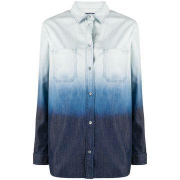 ombre denim shirt