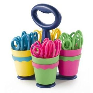 Westcott KleenEarth Antimicrobial Scissor Caddy with 24 Pointed 5