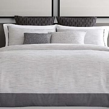 Vera Wang Grisaille Weave Duvet Cover, Queen