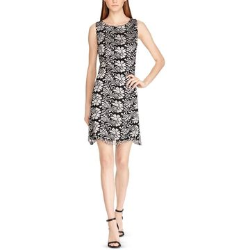American Living Womens Lace Floral Sheath Dress