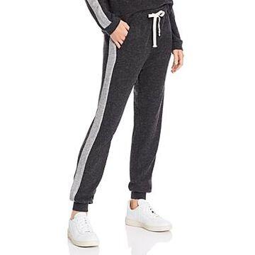 Monrow Waffle-Knit Girlfriend Sweatpants
