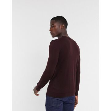 New Look Crew Neck Sweater in Burgundy-Red