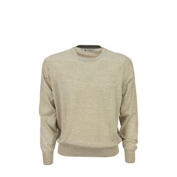 BRUNELLO CUCINELLI Lightweight cashmere and silk crew-neck sweater
