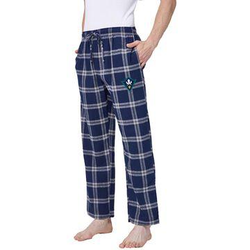 Concepts Sport Men's UNC-Wilmington Seahawks Navy/White Hillstone Flannel Sleep Pants