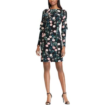 American Living Womens Floral Layered Dress