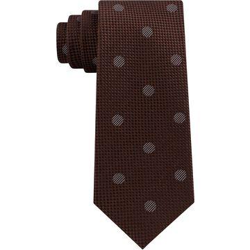 Men's Checkered Textured Dot Silk Tie