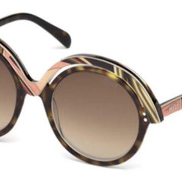 Emilio Pucci EP0065 56F Womenas Sunglasses Tortoise Size 53