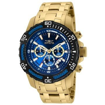 Invicta Men's 24856 'Pro Diver' Scuba Gold-Tone Stainless Steel Watch