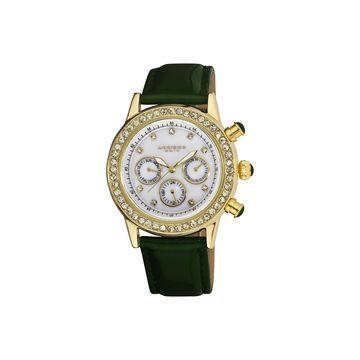 Akribos XXIV Womens Green Strap Watch-A-556gn